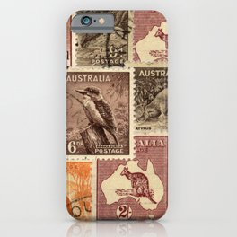 Vintage Australian Postage Stamps Collection iPhone Case
