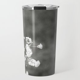Black and white florals Travel Mug