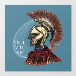 "Julius Caesar  ""I came; I saw; I conquered"" Canvas Print"