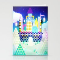 castle in the sky Stationery Cards featuring Castle in the Sky by Alexander Pohl