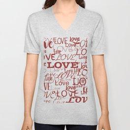 Love, love, love! Unisex V-Neck