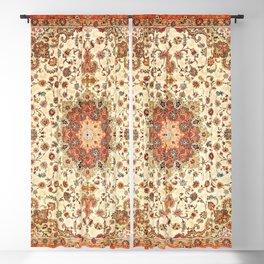 N71 - Orange Antique Heritage Traditional Moroccan Style Mandala Artwork Blackout Curtain