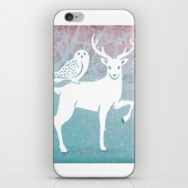 Winter In The White Woods iPhone Skin