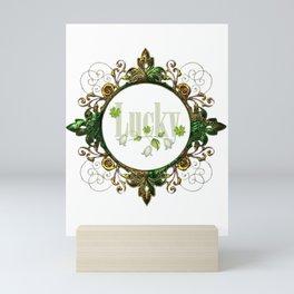Green Vintage Frame Mini Art Print