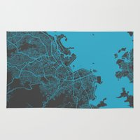 rio Area & Throw Rugs featuring Rio by Map Map Maps