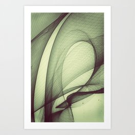 The Breeze Art Print