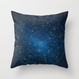 Constellation Star Map Throw Pillow