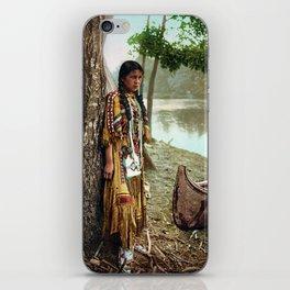 Native American Little Girl iPhone Skin