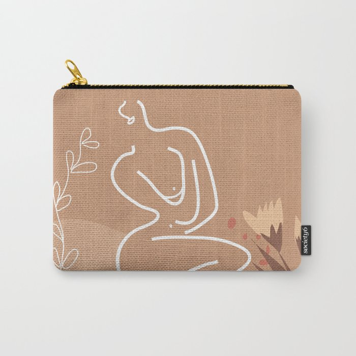 Woman in Nature Illustration Carry-All Pouch