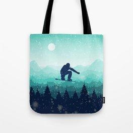 Snowboard Skyline II Tote Bag
