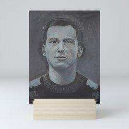 Greyscale goalkeeper Mini Art Print