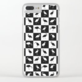 ibises (checkerboard) Clear iPhone Case