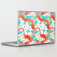surrealism Laptop & iPad Skins featuring Pop surrealism White by Evatania