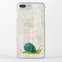 Little Snail, Snips and Snails, Little Boys, Bugs and Slugs Art, Woodland Clear iPhone Case