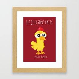 Gougoul the Chicken Framed Art Print