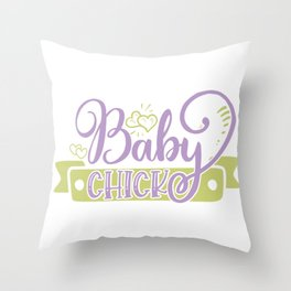 Baby Chick Easter Throw Pillow