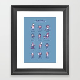 Psychology of headwear Framed Art Print