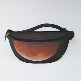 Blood Moon through Southern California Haze Fanny Pack