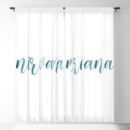 Nirvana motivational typography Blackout Curtain