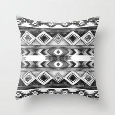 Southwest Pattern- Black & White Throw Pillow