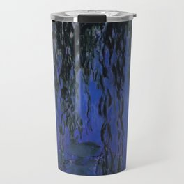 "Claude Monet ""Water Lilies and Weeping Willow Branches"", 1919 Travel Mug"