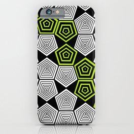 Colour Pop Pentagons - Lime Green iPhone Case