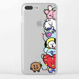 BT21 Christmas Lights Clear iPhone Case