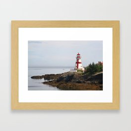 Head Habour Lightstation - Campobello Island New Brunswick Canada Framed Art Print
