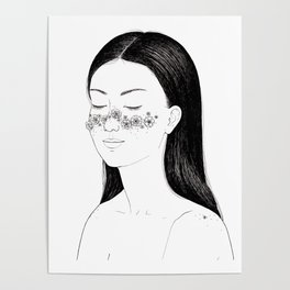 Blooming freckles Poster