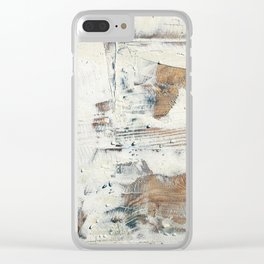Wood planks epoxy resin repairing shipboard texture Clear iPhone Case