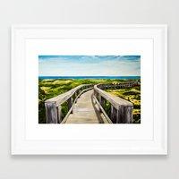boardwalk empire Framed Art Prints featuring Boardwalk by Minx Paints