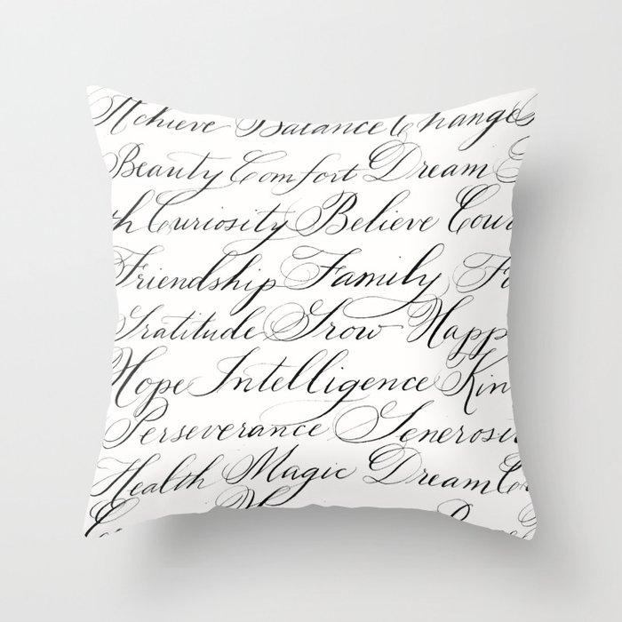 Inspirational Words II Throw Pillow