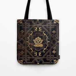 Leather and Gold Tote Bag