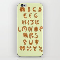 Pancake Alphabet iPhone & iPod Skin