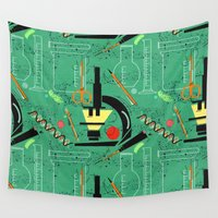 biology Wall Tapestries featuring BIOLOGY by cecimonster