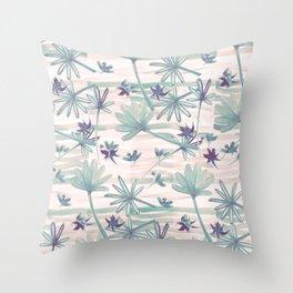 Sea floral print Throw Pillow