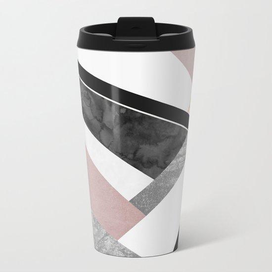 Lines & Layers 1 Metal Travel Mug