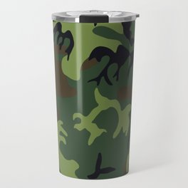 Military camouflage,soldiers pattern decor. Travel Mug
