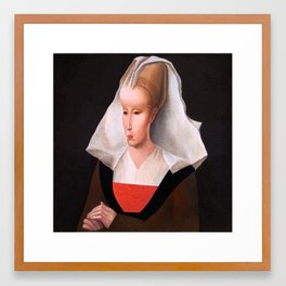 Portrait of a woman. After Rogier van der Weyden. From the series inspired by the Great Masters. Framed Art Print