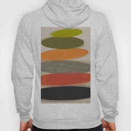 Mid-Century Modern Ovals Abstract Hoody