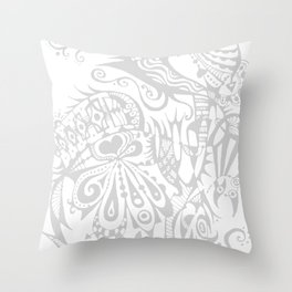 Doodle-Ish One Throw Pillow