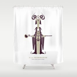 N is for Necromancer Shower Curtain
