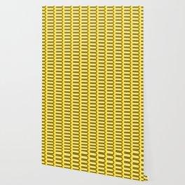 Geometric Pattern 235 (yellow curves) Wallpaper