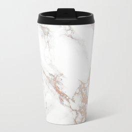 Rosey Marble Metal Travel Mug