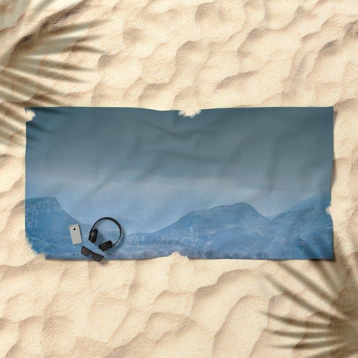 Time Horizon Beach Towel