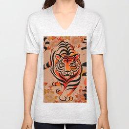 japanese tiger art Unisex V-Neck