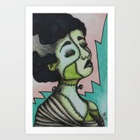 bianca green Art Prints featuring Bianca by Sarah Huth