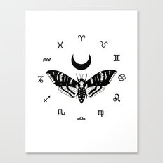 Death and The Moon Canvas Print