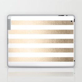 Simply Striped in White Gold Sands Laptop & iPad Skin
