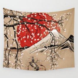 Japan Fishermen Wall Tapestry